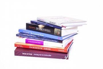 Boek drukken stapel